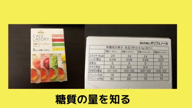 糖質の量が書いてある画像