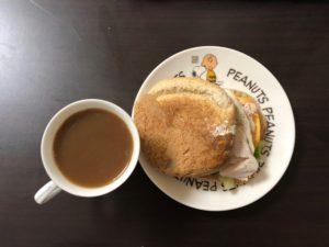 ゆる糖質制限160日目の朝ごはんの画像