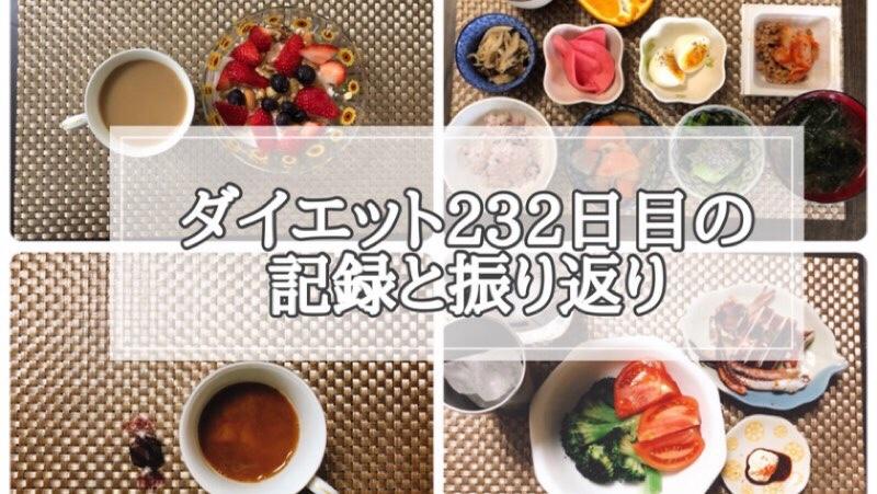 ゆる糖質制限232日目の食事の画像