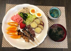 簡単作り置きを利用したゆる糖質制限のお昼ご飯の画像