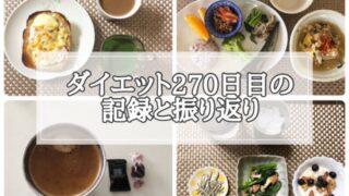 ゆる糖質制限ダイエット270日目に食べたものの画像