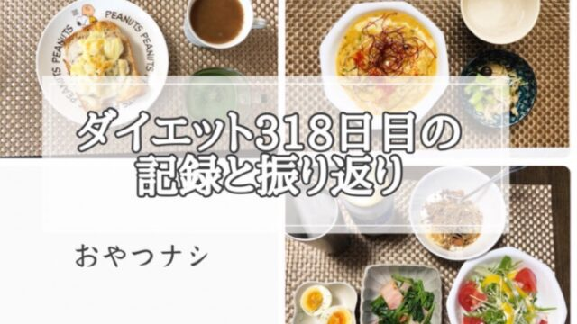 ゆる糖質制限ダイエット318日目に食べたものの画像