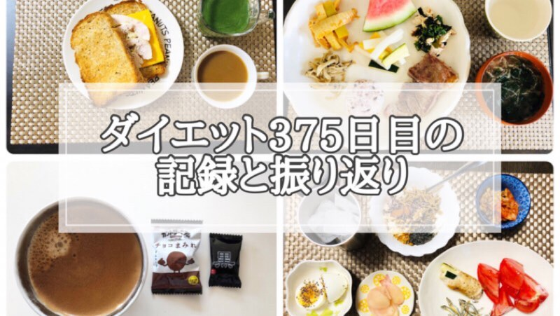 ゆる糖質制限ダイエット375日目に食べたものの画像