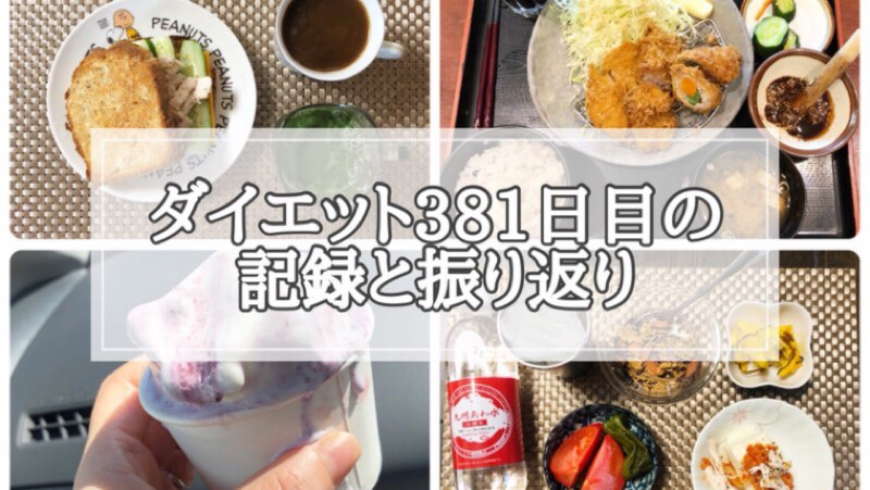 ゆる糖質制限ダイエット381日目に食べたものの画像