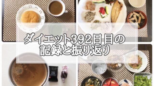 ゆる糖質制限ダイエット392日目に食べたものの画像
