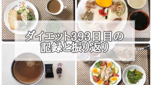 ゆる糖質制限ダイエット393日目に食べたものの画像