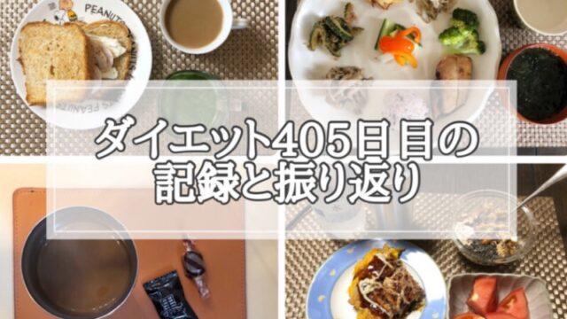ゆる糖質制限ダイエット405日目に食べたものの画像