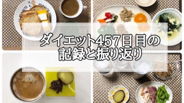ゆる糖質制限ダイエットの457日目に食べたものの画像